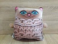 Антистрессовая игрушка-подушка кот Зяблик