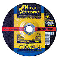 Обдирочный (зачистной) диск круг для болгарки по металлу 180х8х22,23 т27 Novoabrasive