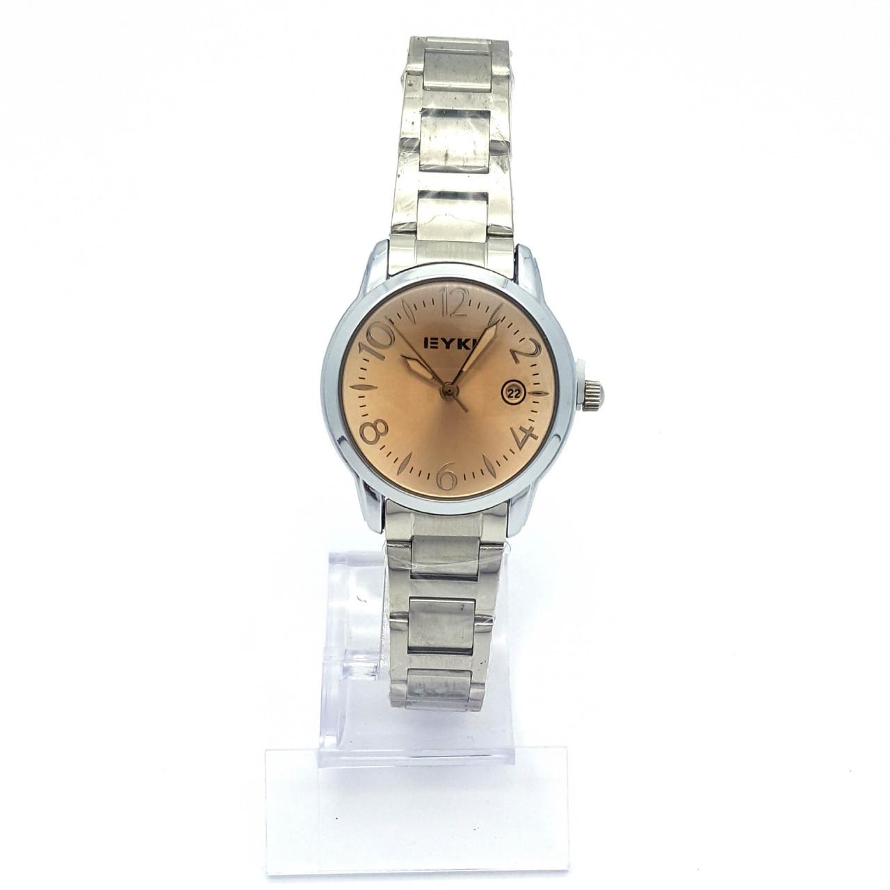 Часы EYKI Классика, под серебро, на браслете р.20, циферблат 29мм
