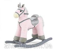 Інтерактивна Конячка-гойдалка Milly Mally PEPE, махає хвостом, звуки Pink