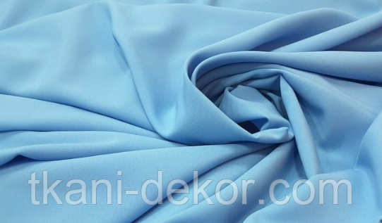 Сатин (хлопковая ткань) голубой однотон