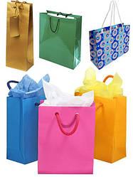 Праздничные бумажные пакеты, коробки, бумага, шарики