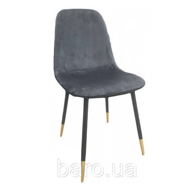 Стул Велюр, ткань, ножки металл, цвет серый