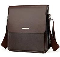 Мужская сумка Polo DZ077Br коричневая