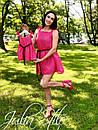 Шифоновое платье для мамы и дочки с пышной юбкой 28md47, фото 3