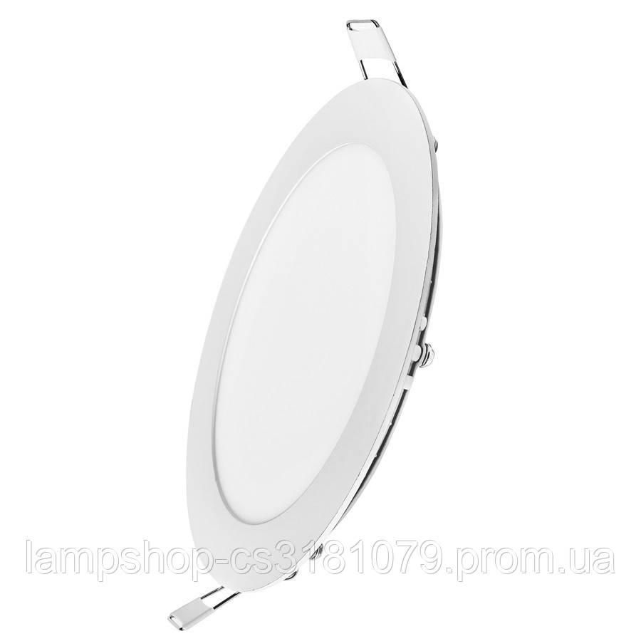 Светильник светодиодный встраиваемый потолочный DELUX CFR LED 12 4100К 12 Вт 220В круг