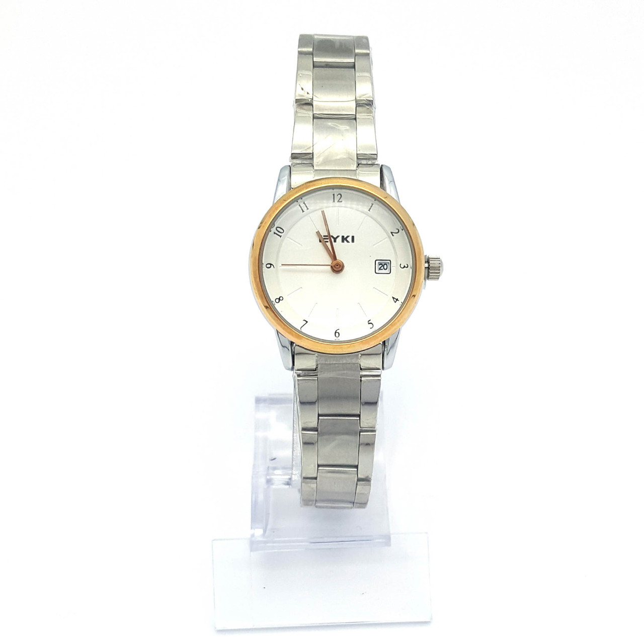 Часы EYKI в Серебре с золотистым ободком, р.20, циферблат 22мм