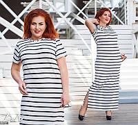 Платье женское летнее длинное вискоза больших батальных размеров 50-60 Турция, 2 цвета
