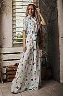 Женское светлое длинное платье. Размеры 42-48, фото 1