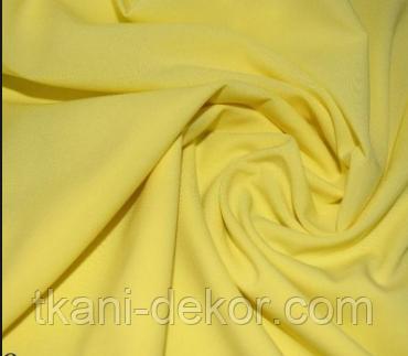 Сатин (бавовняна тканина) однотон світло-жовтий (ширина 2.55 м)