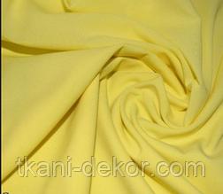 Сатин (хлопковая ткань) однотон светло-желтый (ширина 2.55 м)