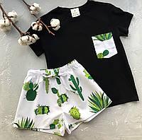 Пижама футболка и шорты L-XL кактус