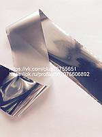 Фольга для ногтей серебро глянец