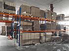 Стелаж палетний приставний H3000хL2700х1100 мм (пол. + 2 рівня по 2300 кг на рівень), стелаж для палет, фото 10