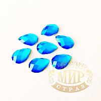 Клеевые неоновые стразы Капли, цвет Neon Blue, размер 10х14мм*1шт