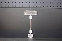 Універсальний цінникотримач 5 см, ніжка 50 mm  на магнітній основі Прозорий