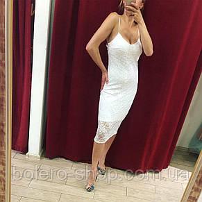 Женское платье на бретелях ажурное Imperial Италия, фото 2