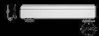 Плинтус напольный Classic Home 7-097 flex, лепной декор из полиуретана