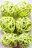 Шар из ротанга 10 см салатовый, фото 2