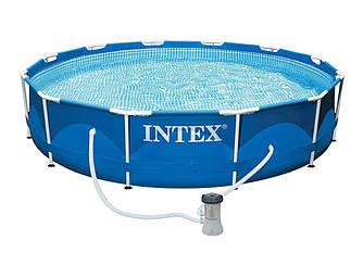 Круглый каркасный бассейн Intex Metal Frame Pool, фильтр-насос, 366х76 см (28212)