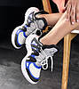 Женские кроссовки Louis Vuitton Archlight White/Black/Blue (Луи Витон) белые, фото 5