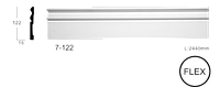 Плинтус напольный Classic Home 7-122 flex, лепной декор из полиуретана