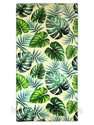 """Пляжное полотенце """"Листья"""" 70х140см., фото 2"""