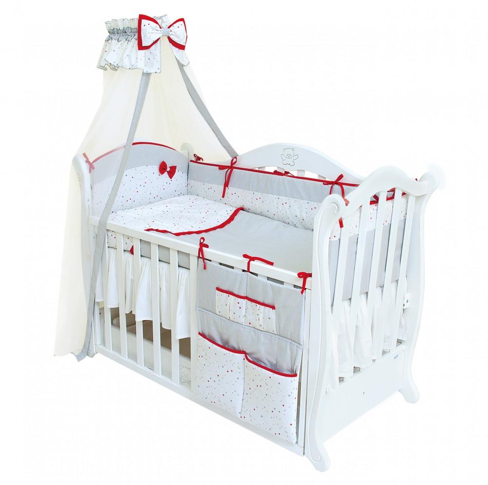 Детская постель Twins Premium Starlet P-020 бело-серый 8 предметов (Постіль Twins Premium P-020)