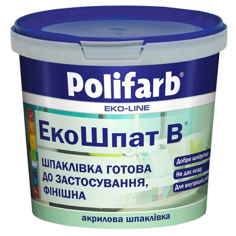 Финишная акриловая шпатлевка Polifarb Экошпат-В 1.5кг
