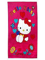 """Пляжное полотенце """"Hello Kitty"""" 70х140см."""
