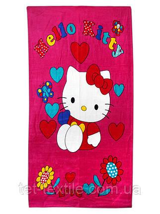 """Пляжное полотенце """"Hello Kitty"""" 70х140см., фото 2"""