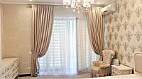 Спальня, фактурные шторы