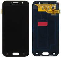 Модуль (дисплей + сенсор) Samsung A5 / A520 (2017) Black (рег. подсветка / light change)