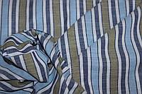 Ткань Лен натуральный, полоса №602 эко, фото 1