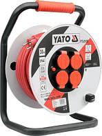 Удлинитель сетевой на катушке 3-х жильный YATO YT-8106 (Польша)