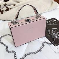 Маленькая женская прямоугольная сумка книжка JingPin розовая
