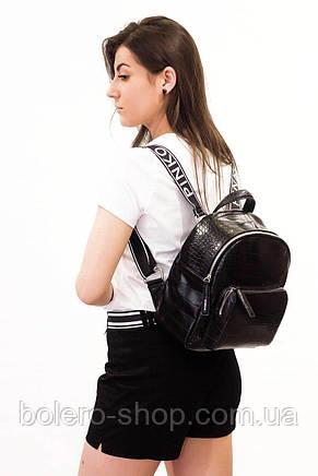 Женские шорты черные коттон Ake Италия, фото 2