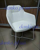 Кресло Laredo (Ларедо) белое в экокоже + белая основа от Nicolas