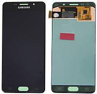 Модуль (дисплей + сенсор) Samsung A7 / A710 (2016) Black (рег. подсветка / light change)