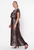 Длинное женское платье Влада леопард темный Размеры   52, 54, 56, 58, фото 2