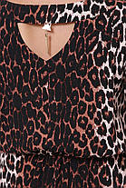 Довге жіноче плаття Влада темний леопард Розміри 52, 54, 56, 58, фото 2