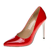 Туфли женские на высоком каблуке Vidorcci, цвет красный, Китай 35р