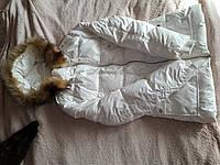 Приталенный белый пуховик Ostin еврозима куртка пуховая, М 44-46