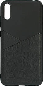 Силикон Huawei Y7 2019 black Leather