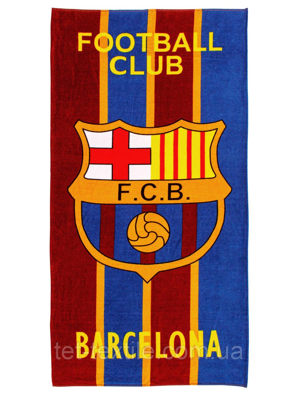 "Пляжное полотенце ""FCB Barcelona"" 70х140см."