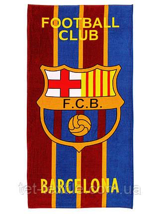 """Пляжное полотенце """"FCB Barcelona"""" 70х140см., фото 2"""