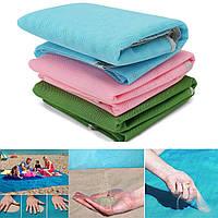 Пляжная подстилка анти-песок Sand Free Mat / пляжный коврик / коврик для пикника / коврик для моря 2,0*2,0 м, фото 1