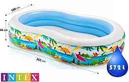 Детский надувной бассейн Лагуна 56490 Intex, интекс для детей, дачи, летний, Интекс