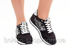 Кроссовки женские черные Trussardi, фото 3