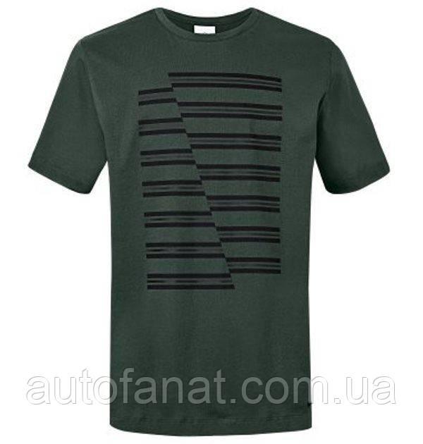 Оригинальная мужская футболка MINI JCW Stripes Men's T-Shirt, Racing Green (80142454526)